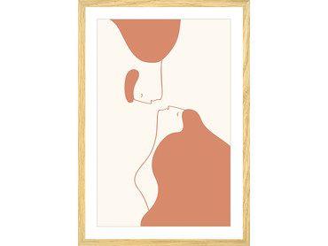 Affiche graphique un baiser volé