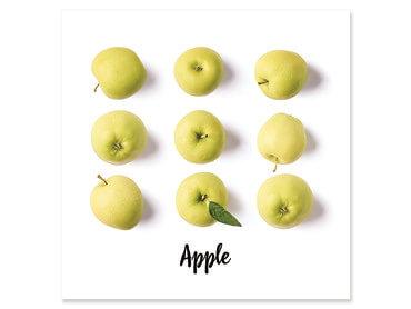 Affiche cuisine mangez des pommes