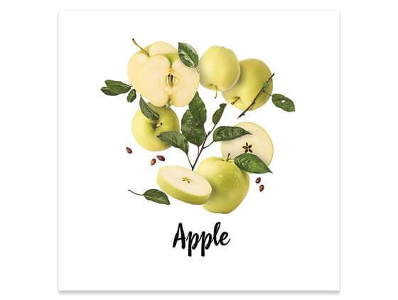 Poster cuisine pommes en vrac