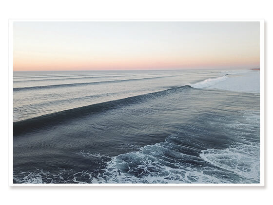 Poster paysage surf sunset