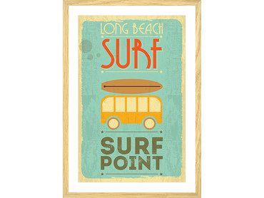 Affiche surf point vintage