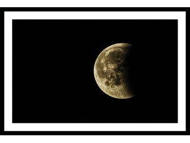 Poster noir et blanc photo de lune