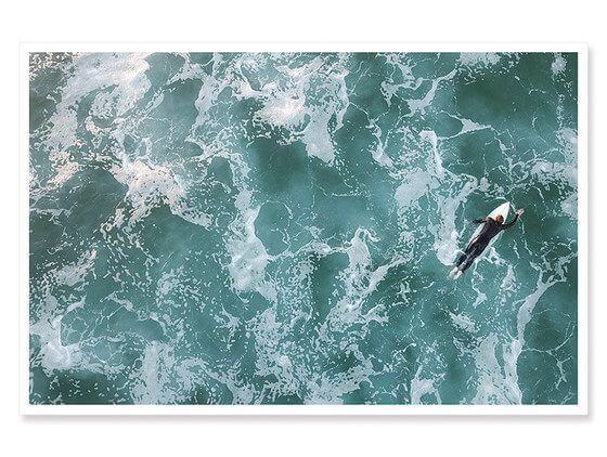 Affiche moderne surfeur perdu