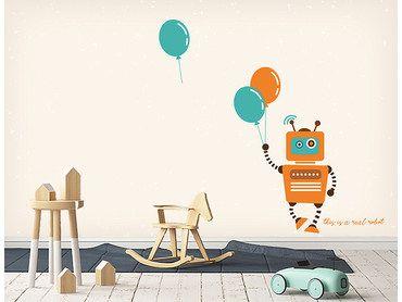Papier peint robot avec ballons