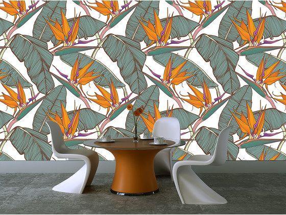Papier peint feuilles mur de feuilles