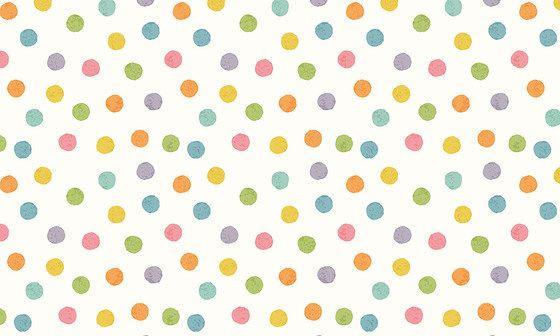 Papier peint à pois multicolores