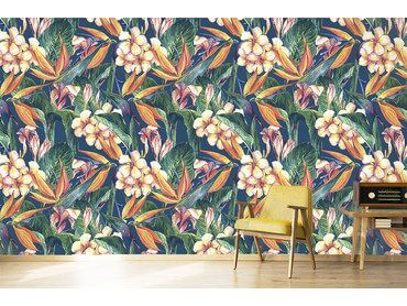 Papier peint mur tropical