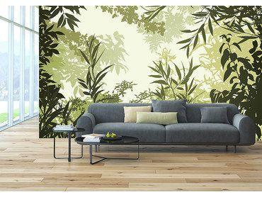 Papier peint forêt automnale