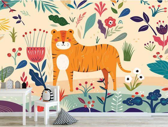 Papier peint jungle pour chambre enfant