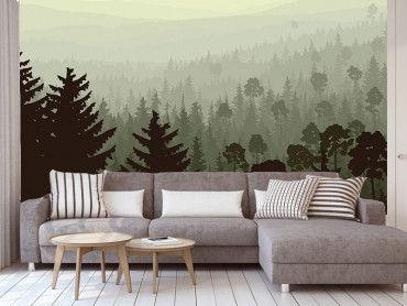 Papier peint forêt enchantée