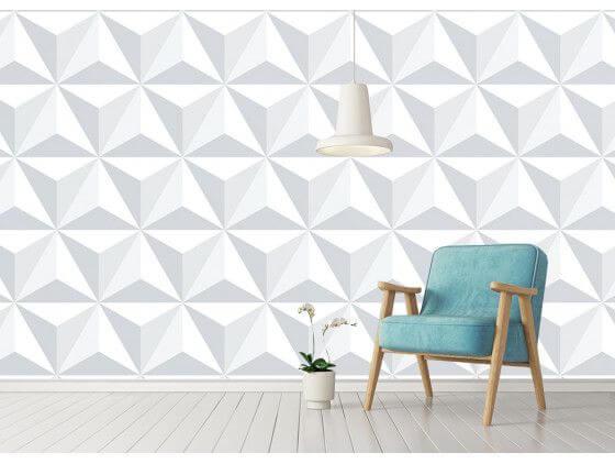 Papier peint triangles 3D