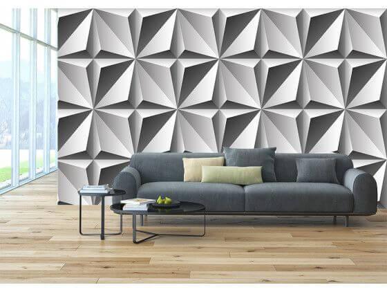 Papier peint formes géométriques 3D