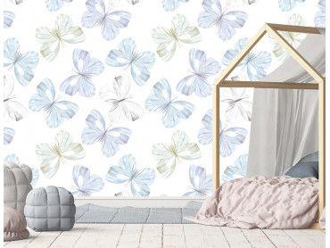 Papier peint fresque papillons