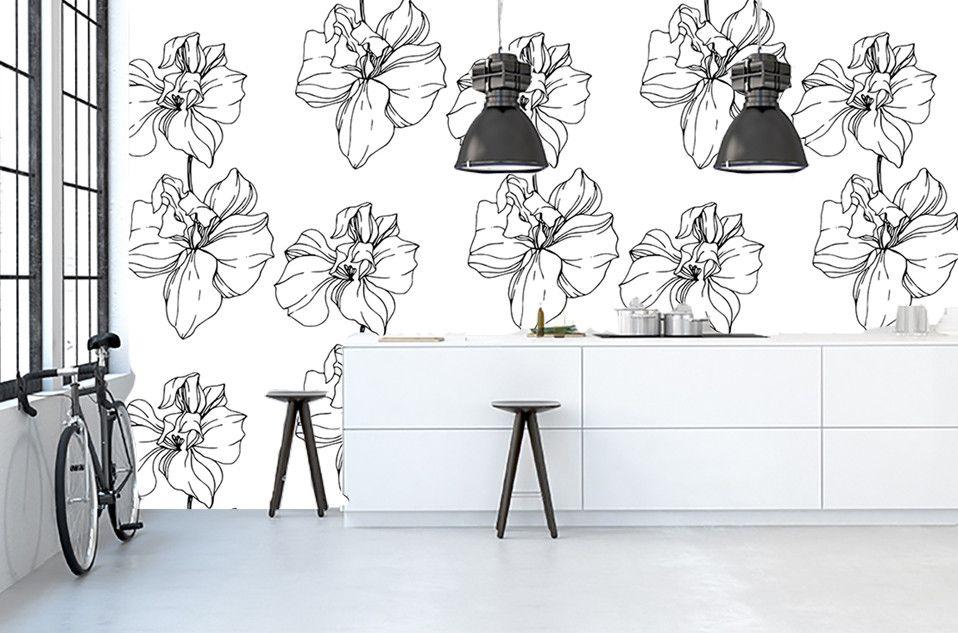 Papier Peint Aux Motifs De Fleurs à Prix Irrésistibles