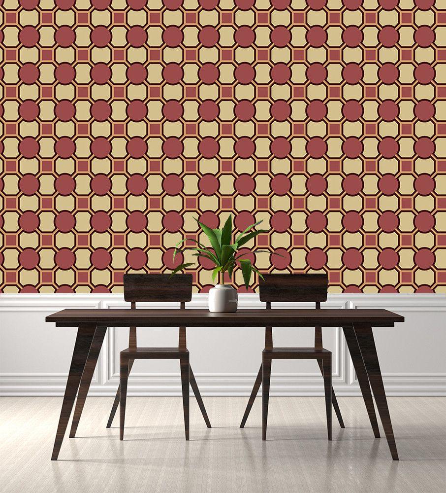 Papier Peint Style Atelier tapisserie carreaux de ciment pour cuisine pas cher