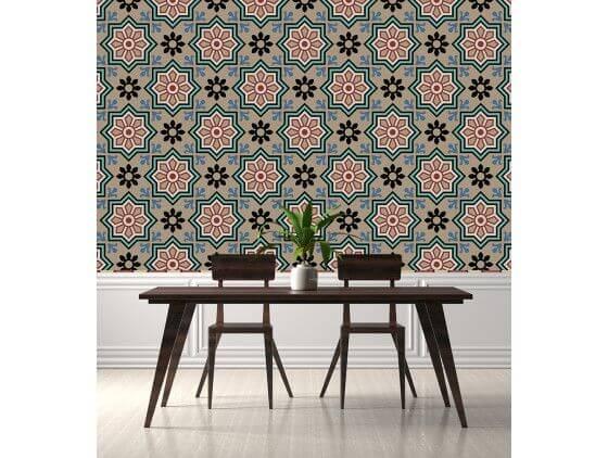 vente de papier peint xxl imitation carreaux de ciment. Black Bedroom Furniture Sets. Home Design Ideas
