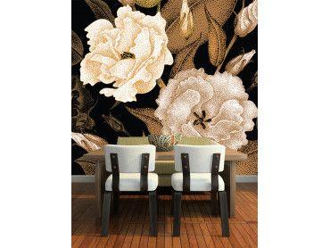 Papier peint macro fleurs