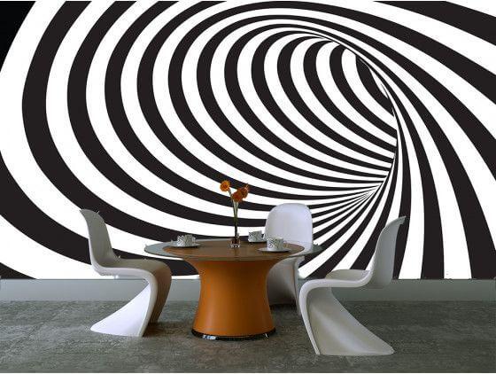 Papier peint graphique trou noir