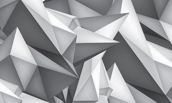 Papier Peint Formes 3d Noir Et Blanc