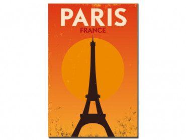 Tableau vintage orange Tour Eiffel