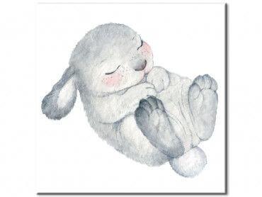 Tableau lapin endormi pour enfant