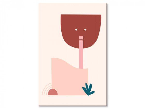 Tableau contemporain le buveur de cocktail