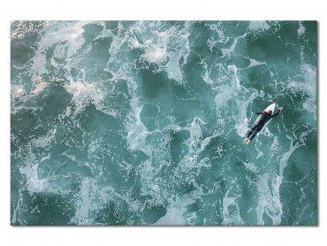 Tableau moderne surfeur perdu
