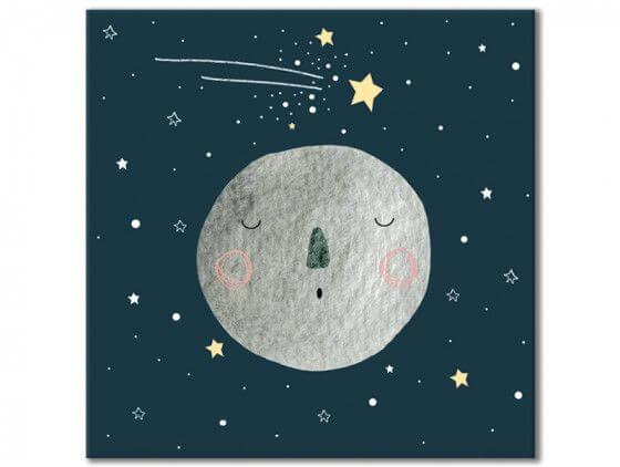 Tableau gris lune pour enfant