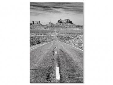Tableau photo noir et blanc grand canyon
