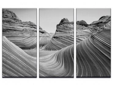 Tableau grand canyon noir et blanc