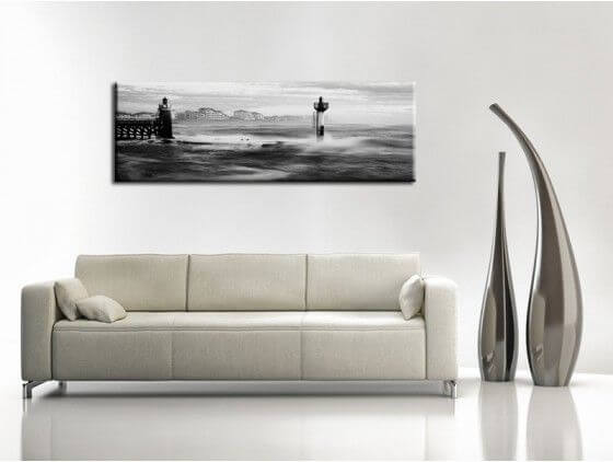 d coration murale pas ch re tableau panorama phare de capbreton. Black Bedroom Furniture Sets. Home Design Ideas