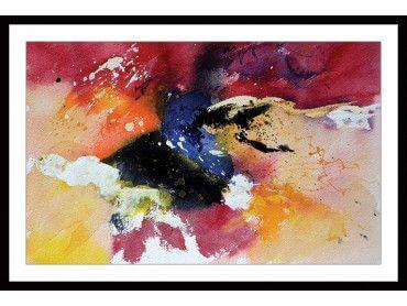 Cadre peinture abstraite multicolore