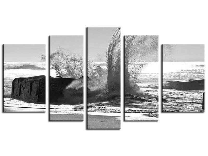 Vente de tableau moderne en noir et blanc plage de capbreton - Vente tableau moderne ...