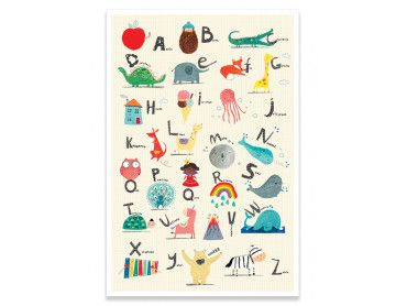 Cadre enfant alphabet rigolo