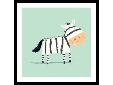 Cadre dessine moi un zebre
