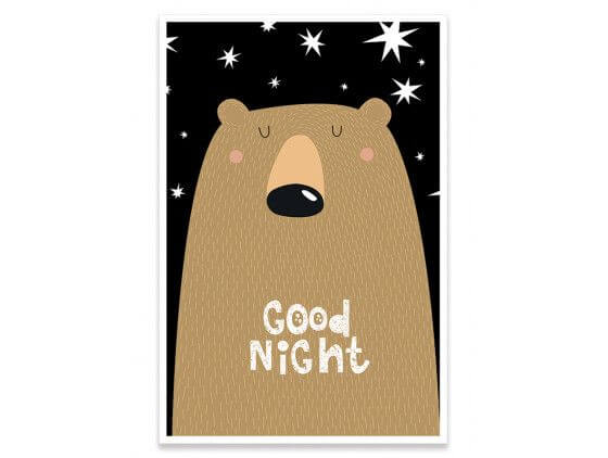 Cadre nounours bonne nuit