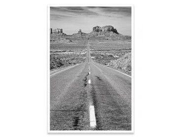Cadre photo noir et blanc grand canyon