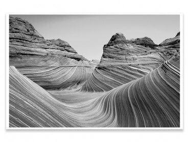Cadre grand canyon noir et blanc