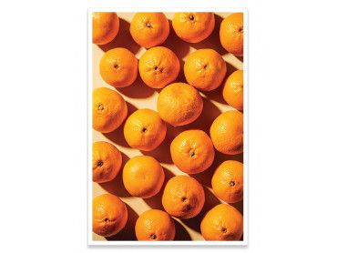 Cadre cuisine orange vitaminée