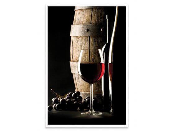 Cadre déco cuisine vin rouge