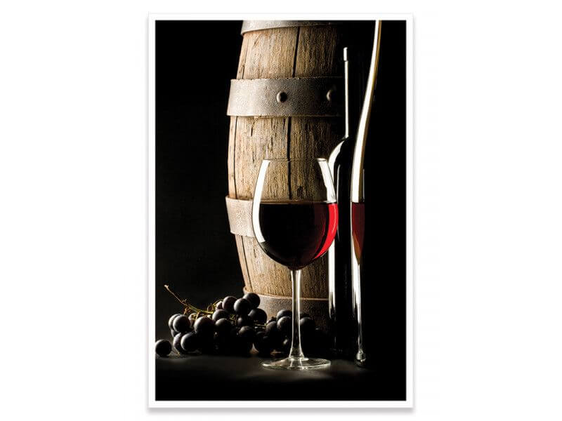 Affiche haute qualité encadrée pour cuisine vin rouge