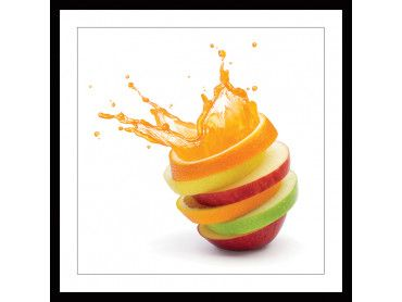 Cadre cuisine explosion de fruits