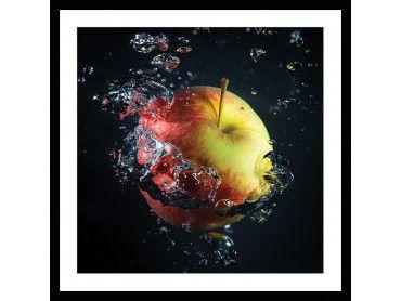 Cadre cuisine pomme et gouttes d'eau