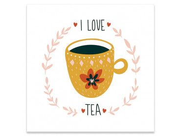 Affiche cuisine i love tea