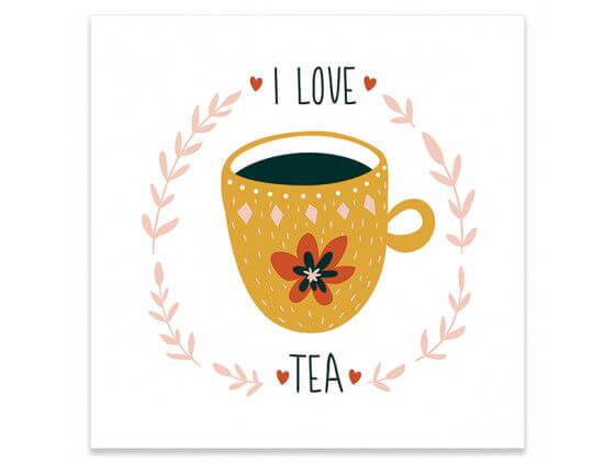 Affiche cuisine i love tea