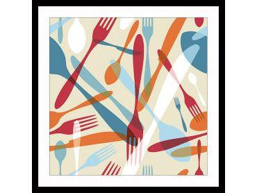 Cadre deco fourchettes et cuilleres