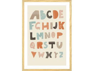 Cadre alphabet coloré