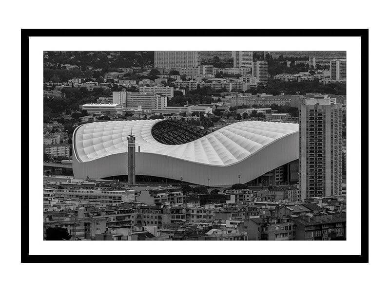 Cadre Photo Vélodrome Marseille Sous Cadre Noir Ou Bois