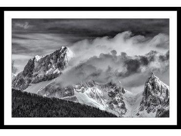 Cadre paysage noir et blanc Jarjatte