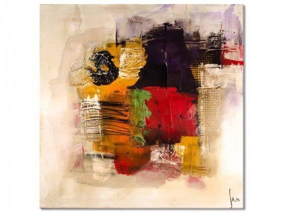 Tableau abstrait les belles couleurs
